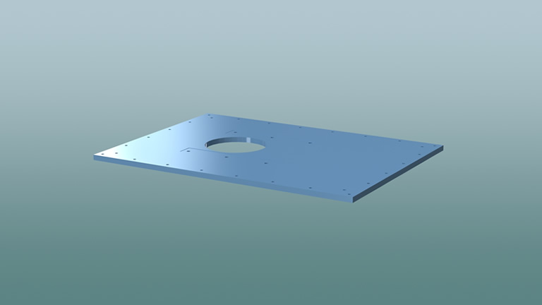 Drive mounting plate